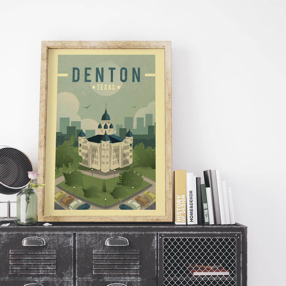 DENTON TX Courthouse Print