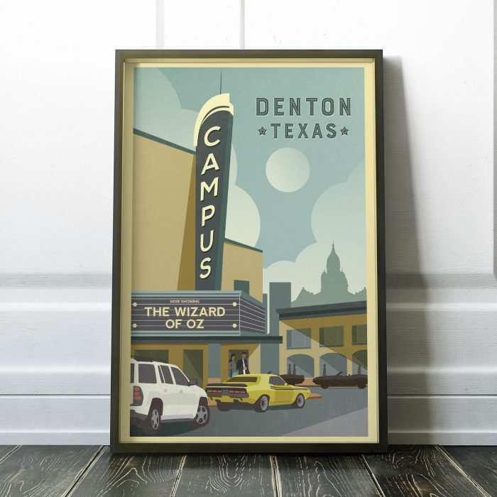Denton Campus Theatre Print