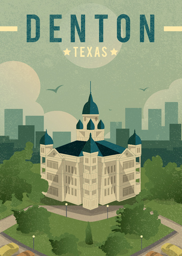 Denton Texas Courthouse Print